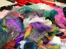 Organza Fabric and cut off Scrap Bags tone tone and plains