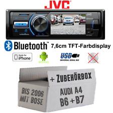 JVC Autoradio für Audi A4 B6 B7 BOSE TFT-Display USB Android iPhone Einbauset