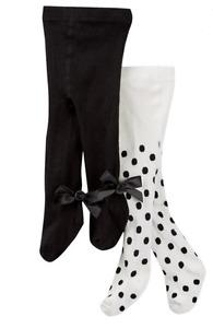 Kate Spade New York Tights Black White Polka Dot Bow Infant Baby 3-6 Months New