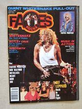 Faces Jan 1988 Whitesnake Motley Crue Aerosmith Def Leppard Kiss Dio Metallica