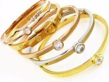 Modeschmuck-Armbänder mit Zirkon-Perlen und Edelstahl für Damen