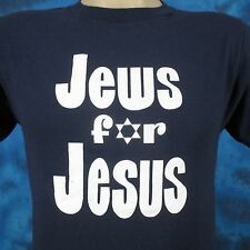 vintage 70s JEWS FOR JESUS 2-SIDED T-Shirt XS/SMALL jewish soft thin 80s