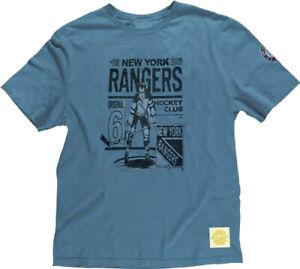 """CCM NHL Men's New York Rangers Retro """"Original 6"""" T-Shirt, Blue Haze"""