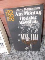 Am Montag flog der Rabbi ab, ein Kriminalroman von Harry Kemelman, aus dem roror