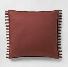 Euro Macrame Tassel Tufted Sham Red Rust Opalhouse Pillow Cover new