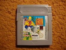 Jeu THE SIMPSONS BART AND THE BEANSTALK RARE  GAME BOY / COLOR / ADVANCE