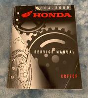 2004 2005 2006 2007 2008 2009 Honda CRF70F Factory Shop Service Repair Manual