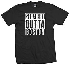 Straight Outta Boston T-Shirt - Strong Red Sox Celtics Patriots - All Colors