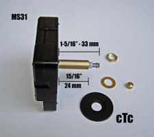 MS31 High Torque Clock Movement / Motor extra long shaft length Dial up to 3/4""