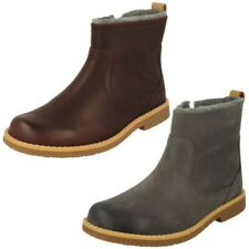 Girls Clarks Stylish Ankle Boots Comet Frost