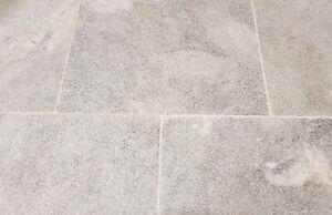 Blue Stone Sandlblasted Marble natural  stone wall + floor tile - tile Sample