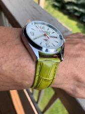 citizen automatic big face men steel 21 jewels white dial vintage japan watch