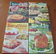 Taste of Home Annual Recipes Cookbooks 2007 2008 2009 2010 Lot of 4
