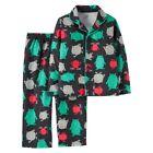 Boys' Carter's Long Sleeve Monsters Black 2pc Pajamas PJ Set, Sizes 12M 3T 4T 5T