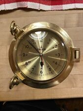 Solid Brass Ships Porthole Wall Clock Maritime Ship's Nautical Decor *Quartz*