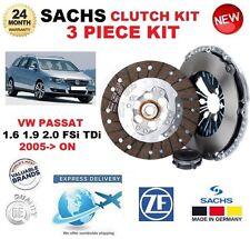 FOR VW PASSAT 1.6 1.9 2.0 FSi TDi 2005-> SACHS 3 PIECE CLUTCH KIT * OE QUALITY *