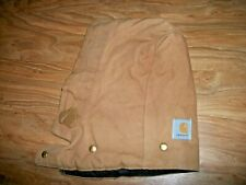 Vintage made in USA CARHARTT jacket coat Brown Duck Cotton Canvas Snap-On Hood