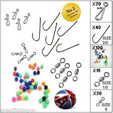 Aberdeen sea hooks, beads,rolling swivels, bait clips