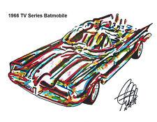Batmobile 1966 TV Series Batmobile Car Racing Print Poster Wall Art 8.5x11