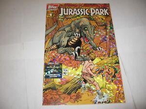 Jurassic Park Amberchrome Gold Foil Holo Cover Variant 2245/7500 1 Rare NM