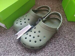 Mens  Womens CROCS Classic Summer Slip On Casual Slipper Clogs Size UK 7 Green