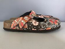 Birkenstock Papillio Brown Floral Clogs Womens 38 7