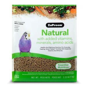 ZuPreem Natural Parakeets 2.25lb (Free Shipping In USA)