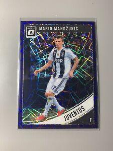 2018-19 Panini Donruss Mario Mandzukic Juventus Optic Purple Velocity /125
