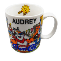 Audrey Kelloggs Cereal City MUG Tony the Tiger Snap Crackle Pop Personalized Cup