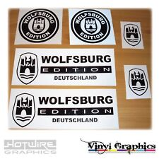 Vinyl Car Decal Sticker Pack - WOLFSBURG Germany VW/AUDI - Golf Polo Scirocco