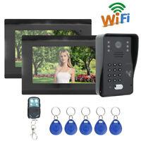 7in WiFi Video Doorbell Intercom Camera Door Phone RFID Card+Password+Remote APP
