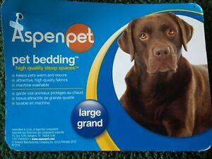 """ASPENPET LARGE PET BED CHEW & MOISTURE RESISTANT 27"""" X 36"""", New"""