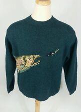 Vintage Wool Orvis Fly Fishing Trout Winter Warm Sweater M