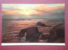 POSTCARD CORNWALL LANDS END LOVELY SUNSET