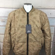 Levis Made & Crafted Mens Bomber Reversible Jacket Size 3 Tan Camo/ Black $458
