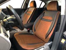 Sitzbezüge Schonbezüge für Seat Leon schwarz-braun V2024072 Vordersitze