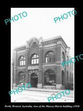 OLD LARGE HISTORIC PHOTO PERTH WESTERN AUSTRALIA, THE MASSEY HARRIS STORE c1930