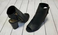 Madden Girl Womens Naaomii Black Pari Block-Heel Ankle Booties, Size 8 NEW NIB