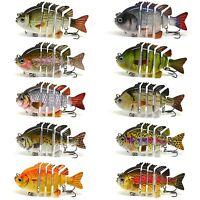 """BLITZ BITE 3"""" Crazy Panfish Series Multi Jointed Bass Fishing Lure Bait Swimbait"""