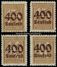 EBS Germany 1923 Inflation Overprints set (II) Michel No. 297-300 MNH**