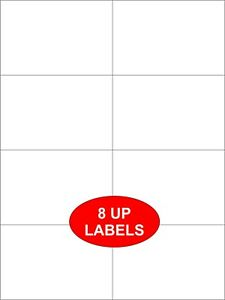 20 A4 SHEETS OF 8 UP BUTT CUT SELF ADHESIVE LABELS