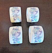 Vintage Sabrina Andre Richard Co. Porcelain Floral Napkin Rings x4 Japan