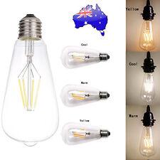 Vintage Retro Edison E27 6W Screw LED Filament Light Bulb ST64 Globe Lamp AU NSW