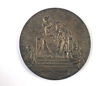 """Belgian bronze medal """"Orphelins de la Geurre"""" c1920 by Paul Dubois"""