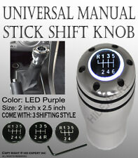JDM Aluminum Shift Knob with White LED Sport Racing Manual Threaded Shifter B254