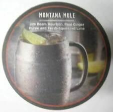 MONTANA MULE w/ JIM BEAM BOURBON 4 inch whiskey COASTER, MAT w/ JB & REAL GINGER