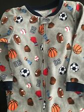 Carters Sports Sleeper Gray Footed Size 4T One Flaw