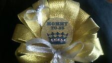 Baby shower Golden Prince  Mommy To Be Corsage and Daddy To Be Tie  for girl/boy