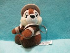"RARE Disneyland Resort Paris Chip N Dale - SAFARI EXPLORER - Soft Keyring Toy 4"""