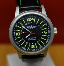 Vintage Poljot Aviator watch Military mens watches 24 hour scale Steel Case 2623